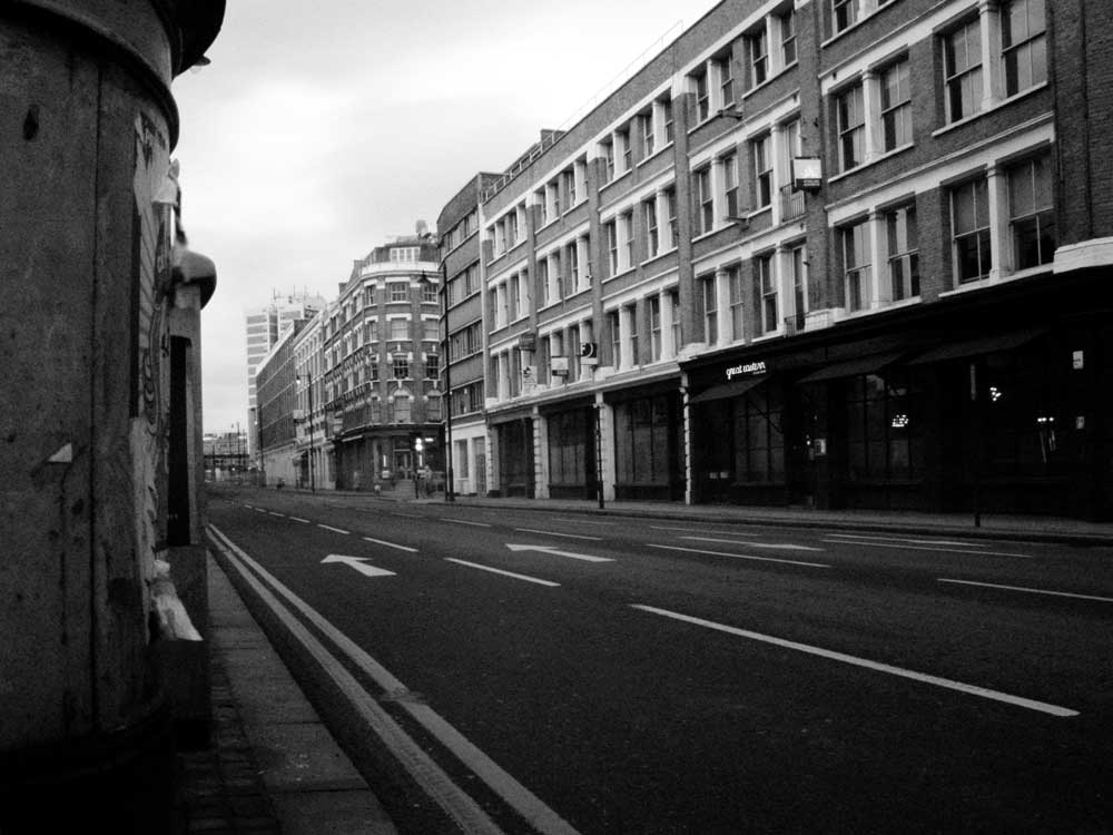 Great Eastern Street, London at lunchtime